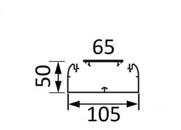 Артикул: 010429, Кабельный канал Legrand DLP 50х105 с крышкой 65мм