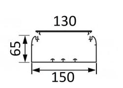 Кабельный канал Legrand DLP 65х150 с крышкой 130мм