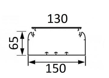 Кабельный канал Legrand DLP 65х150 с крышкой 130мм  010433+010524