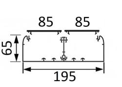 Кабельный канал Legrand DLP 65х195 с двумя крышками 85мм и несущей перегородкой