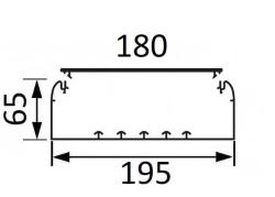 Кабельный канал Legrand DLP 65х195 с крышкой 180мм  010453+010526