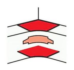 Угол внутренний для DLP 65х150/195/220 на 2 секции 010607
