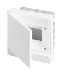 Бокс ABB Basic E в нишу на 6 мод. непрозрачная дверца (с шиной) 1SZR004002A1102
