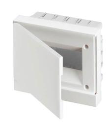 Бокс ABB Basic E в нишу на 8 мод. непрозрачная дверца (с шиной) 1SZR004002A1103
