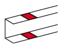 Накладка на стык профиля Legrand DLP на защелках для всех кабель-каналов DLP кроме 105х50 010691