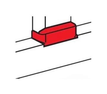 Отвод плоский для перехода на кабель-канал шириной 80 мм 010733
