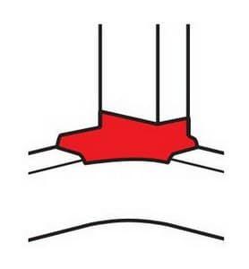 Угловой отвод в комплекте c внутренним углом для кабель каналов DLP 50х80   010763+010602