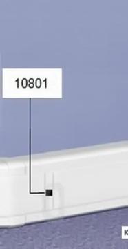 Накладка на стык крышки для кабель-каналов DLP с шириной крышки 85 мм 010802