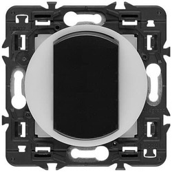 Выключатель одноклавишный с подсветкой по контуру Celiane (графит) 067002+067670+065204+080251