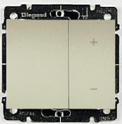 Cветорегулятор кнопочный Galea Life 40-400Вт (перламутр) 775652+771586