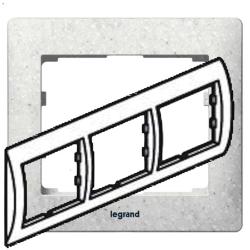 Рамка Galea life трехместная горизонтальная (кориан Everest) 771713