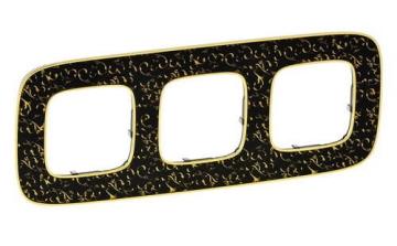 Рамка трехместная Valena Allure (Барокко Нуар) 754433