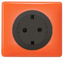 Рамка одноместная Celiane (оранжевый муар) 066651