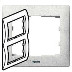 Рамка Galea life двухместная вертикальная (кориан Everest) 771716