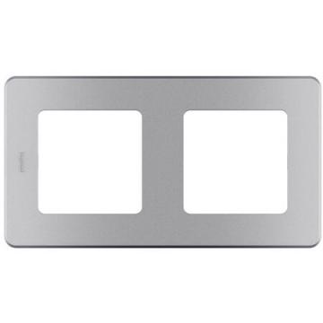 Рамка двухместная Inspiria (алюминий) 673942