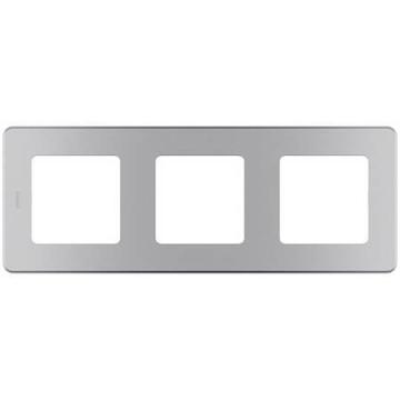 Рамка трехместная Inspiria (алюминий) 673952