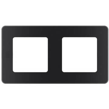 Рамка двухместная Inspiria (антрацит) 673943
