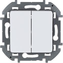 Выключатель двухклавишный Inspiria (белый) 673620