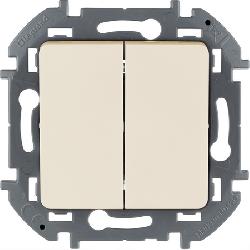 Выключатель двухклавишный Inspiria (слоновая кость) 673621
