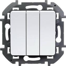 Выключатель трехклавишный Inspiria (белый) 673640
