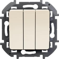 Выключатель трехклавишный Inspiria (слоновая кость) 673641