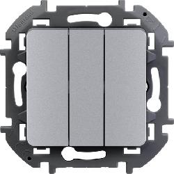 Выключатель трехклавишный Inspiria (алюминий) 673642
