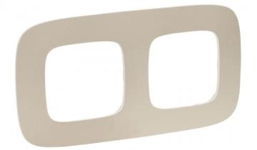 Рамка двухместная Valena Allure (Тиснение бежевое) 754382