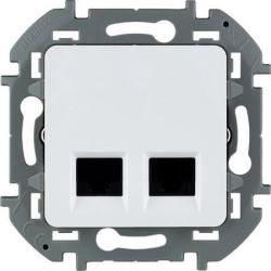 Розетка компьютерная двойная Inspiria (белая) 673840