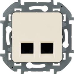 Розетка компьютерная двойная Inspiria (слоновая кость) 673841