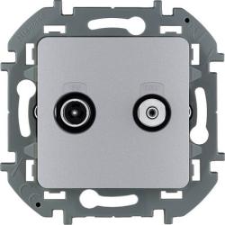 Розетка телевизионная-спутниковая Inspiria (алюминий) 673882