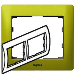 Рамка Galea life двухместная горизонтальная (зеленый) 771922