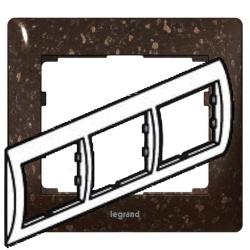 Рамка Galea life трехместная горизонтальная (кориан Cocoa Brown)
