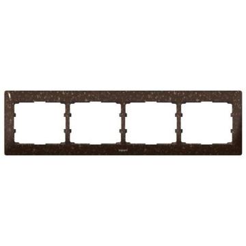Рамка Galea life четырехместная горизонтальная (кориан Cocoa Brown) 771704