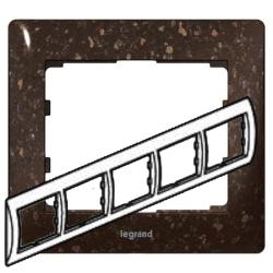 Рамка Galea life пятиместная горизонтальная (кориан Cocoa Brown)