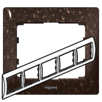 Рамка Galea life пятиместная горизонтальная (кориан Cocoa Brown) 771705