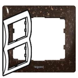 Рамка Galea life двухместная вертикальная (кориан Cocoa Brown)