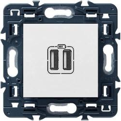Розетка USB Mosaic  (белый) 077594+080251