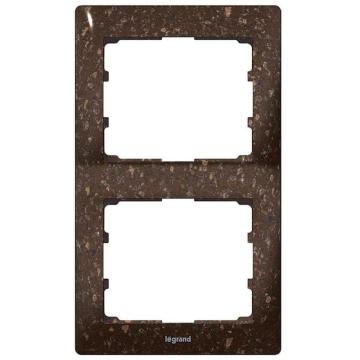 Рамка Galea life двухместная вертикальная (кориан Cocoa Brown) 771706