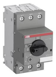 Автомат ABB MS116-0.16 50 kA для защиты электродвигателей с регулируемой тепловой защитой 0.1-0.16А 1SAM250000R1001