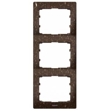 Рамка Galea life трехместная вертикальная (кориан Cocoa Brown) 771707