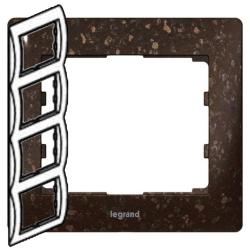 Рамка Galea life четырехместная вертикальная (кориан Cocoa Brown) 771708