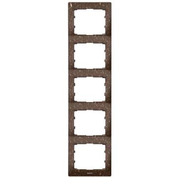 Рамка Galea life пятиместная вертикальная (кориан Cocoa Brown) 771709