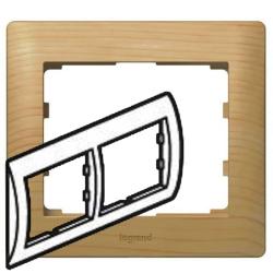 Рамка Galea life двухместная горизонтальная (клён)
