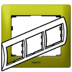 Рамка Galea life трехместная горизонтальная (зеленый)