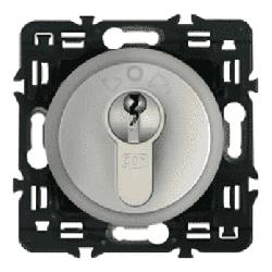 Выключатель с ключом 3-позиционный Celiane (титан) 067039+068457+069795+080251