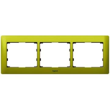 Рамка Galea life трехместная горизонтальная (зеленый) 771923