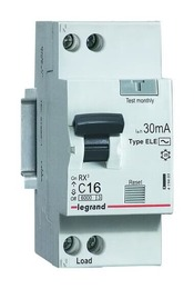 Дифференциальный автомат двухполюсный 16А 30mA (RX3) 419399