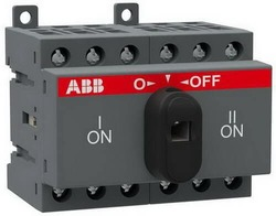 Рубильник реверсивный ABB OT25F3С 25А с ручкой управления