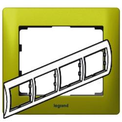Рамка Galea life четырехместная горизонтальная (зеленый)