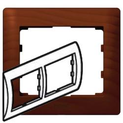 Рамка Galea life двухместная горизонтальная (вишня)